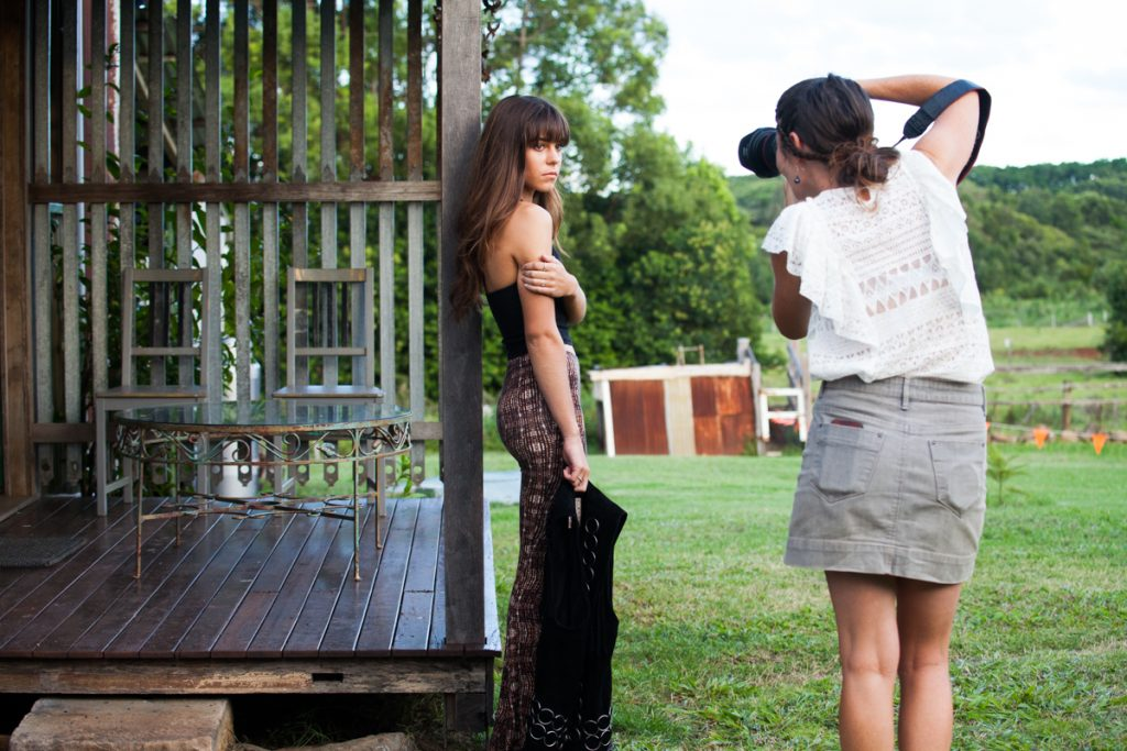 Behind the scenes fashion shoot byron bay